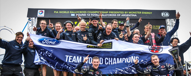 OMSE Ford wins FIA World Rallycross Championship teams' title