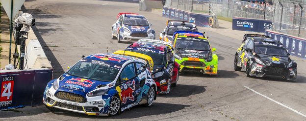 Eriksson scores double podiums in Detroit rallycross