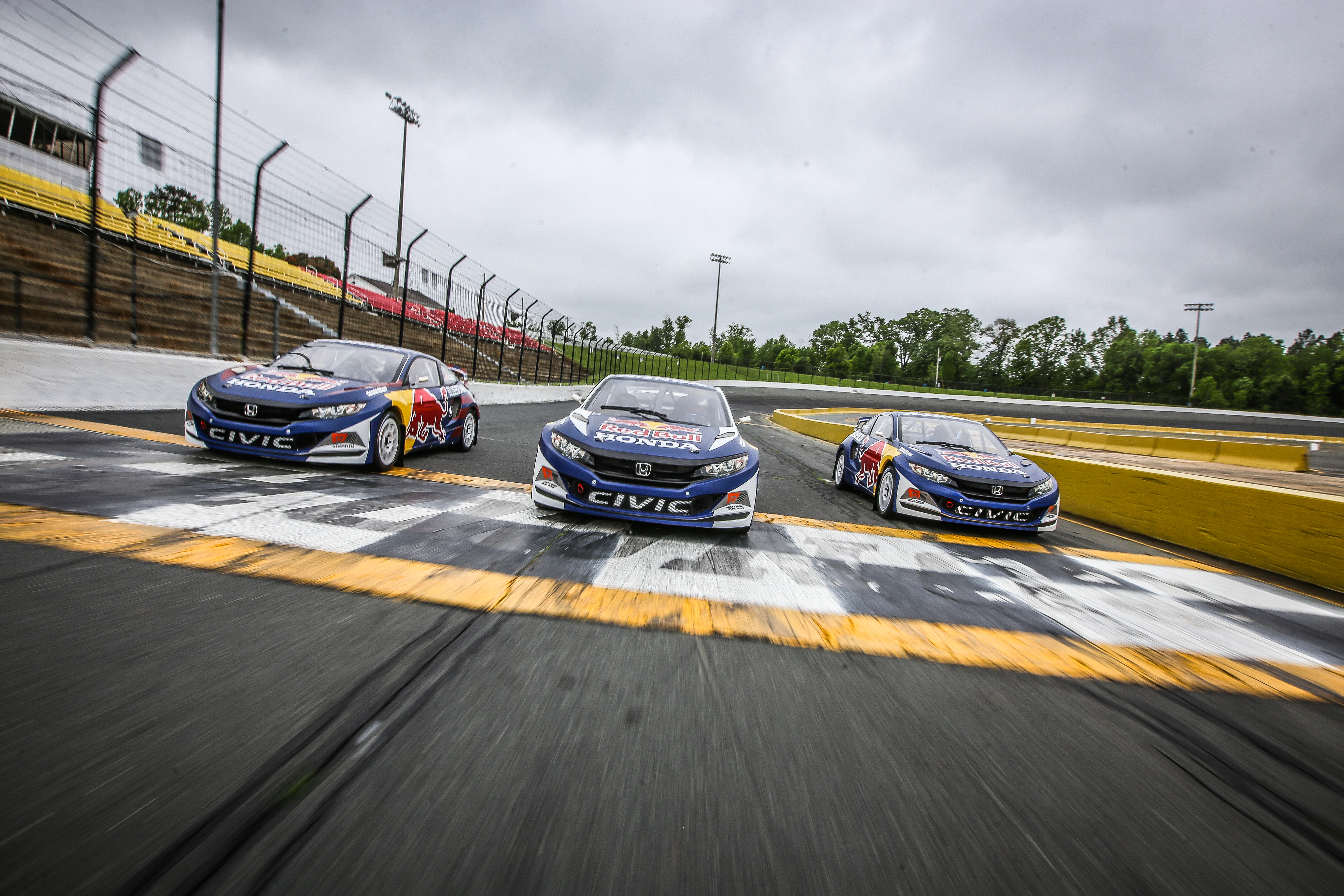 2016 honda civic coupe red bull global rallycross race car debuts in - Honda And Honda Performance Development Announced That Olsbergs Mse Omse Will Field An Expanded Lineup Of Three Talente Young Drivers For The 2017 Red