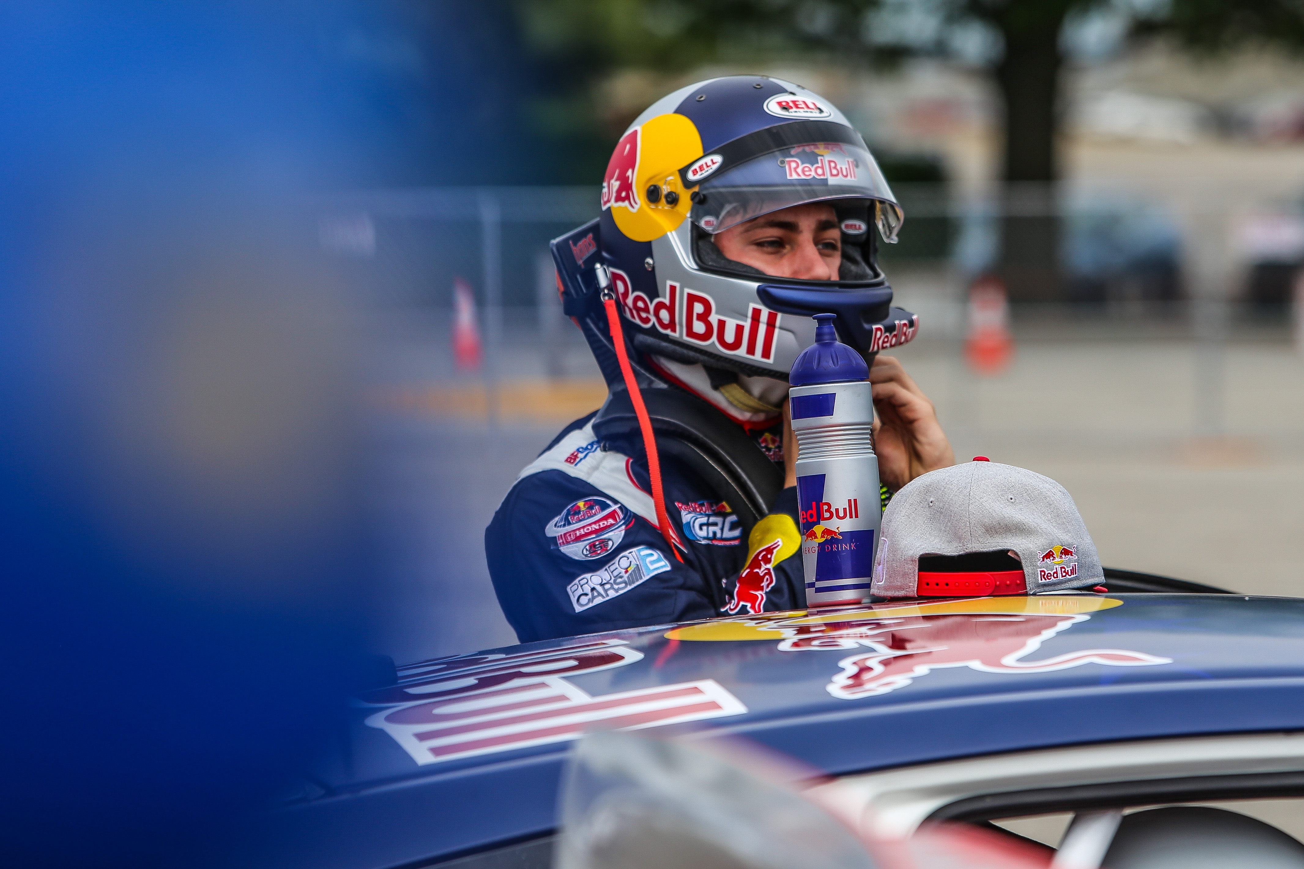 2016 honda civic coupe red bull global rallycross race car debuts in - Mitchell Dejong 24